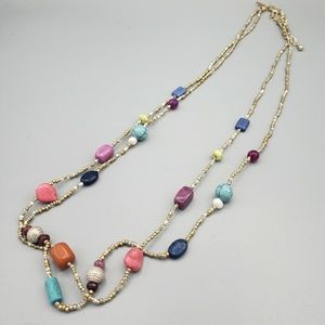 Chico's Bead Detail Necklace